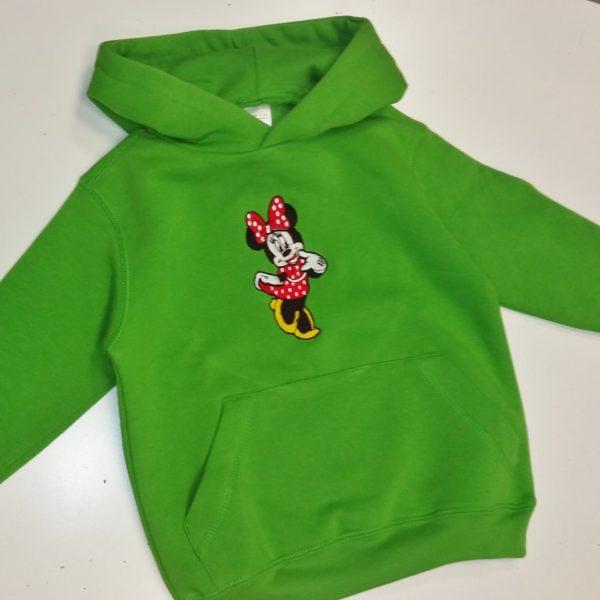 Παιδικό φούτερ με κουκούλα Minnie Mouse red dress