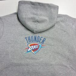 Φούτερ με κουκούλα Oklahoma City Thunder logo